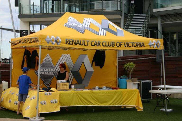 Printed Folding Marquee Renault Car Club