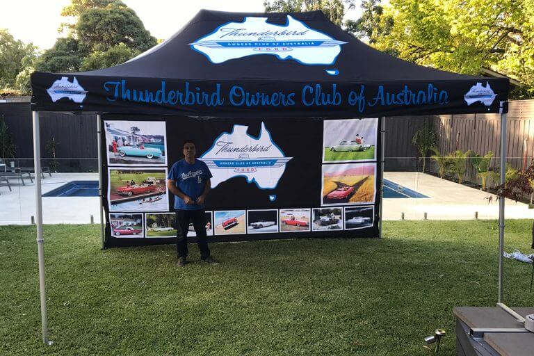 Printed Folding Marquee Thunderbird Club