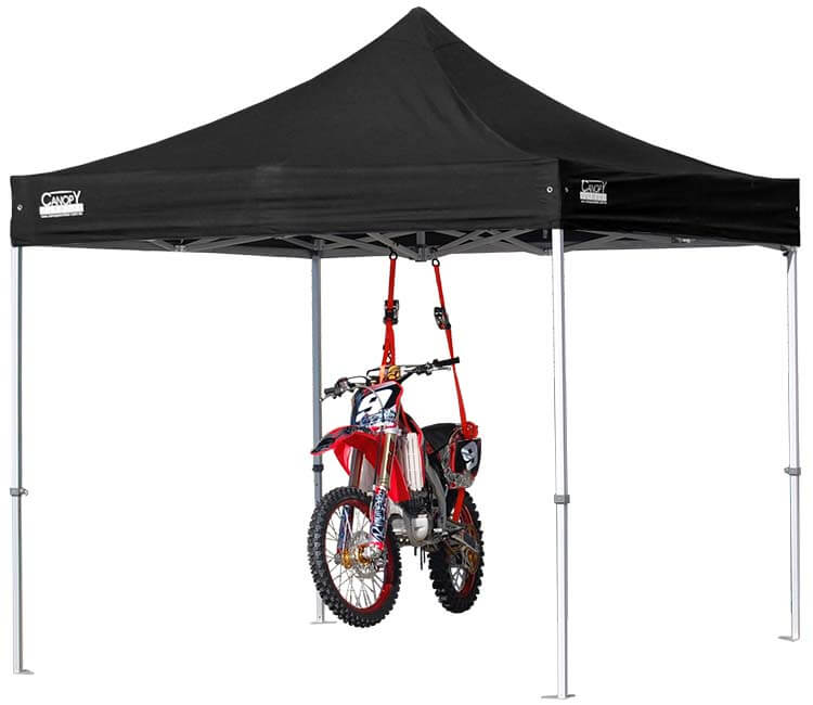 Our Strong Marquees Holding A Motorcycle