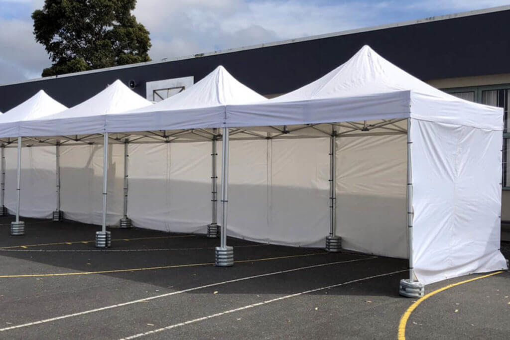 Folding Marquees With Cast Iron Weights