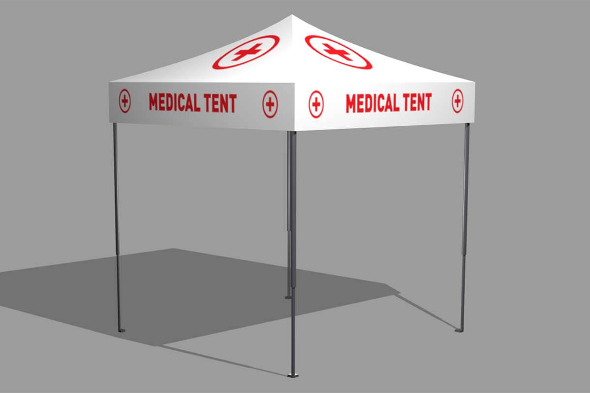 2.4m x 2.4m Medical Marquee