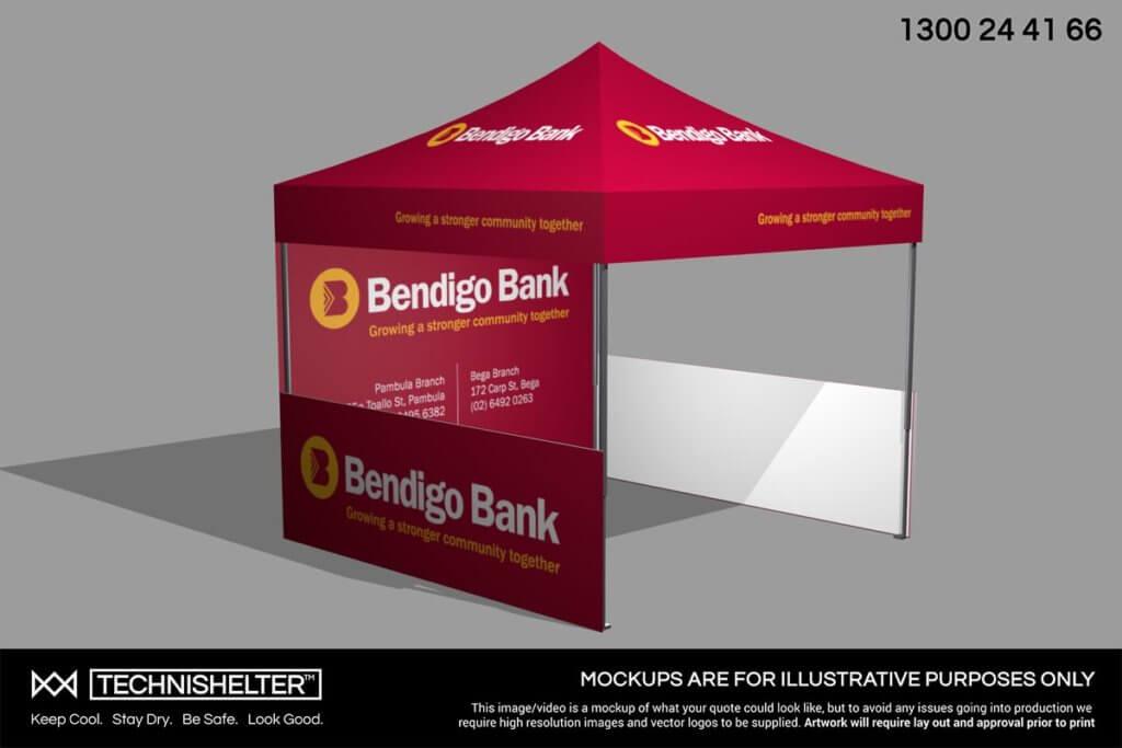 Bendigo Bank 3D Marquee Mock Up