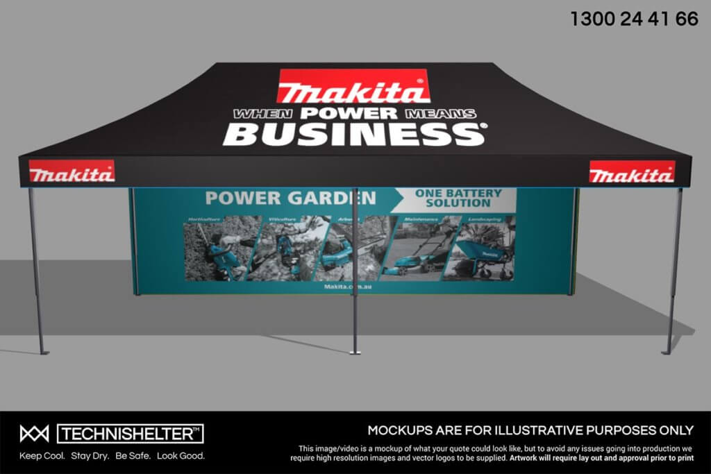 Makita 3D Marquee Mock Up