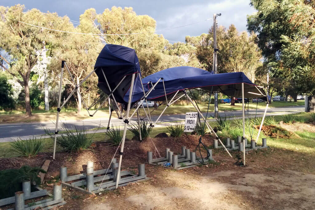 Collapsed Folding Marquees