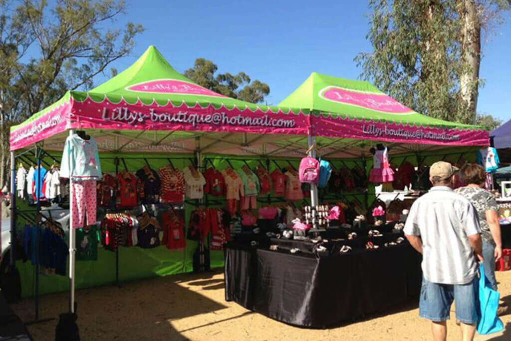 Custom Printed Market Stall Marquees