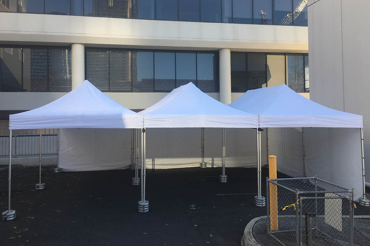 Multiple Outdoor Dining Marquees