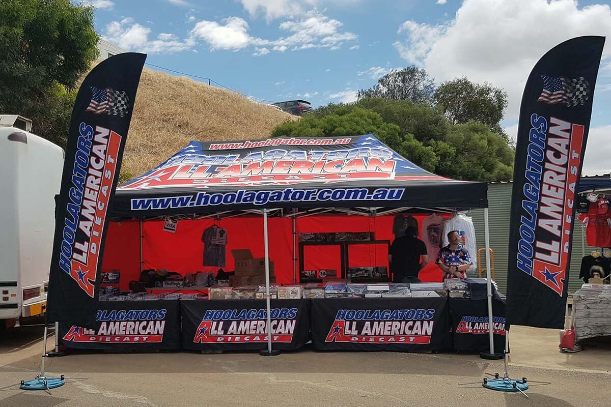 Hoolagators Printed Marquee With Flags