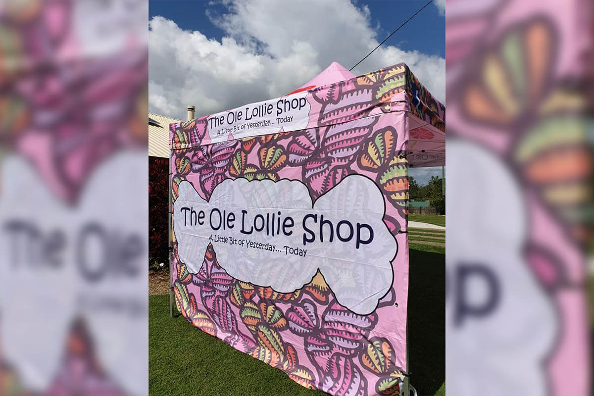 The Ole Lollie Shop Marquee With Printing