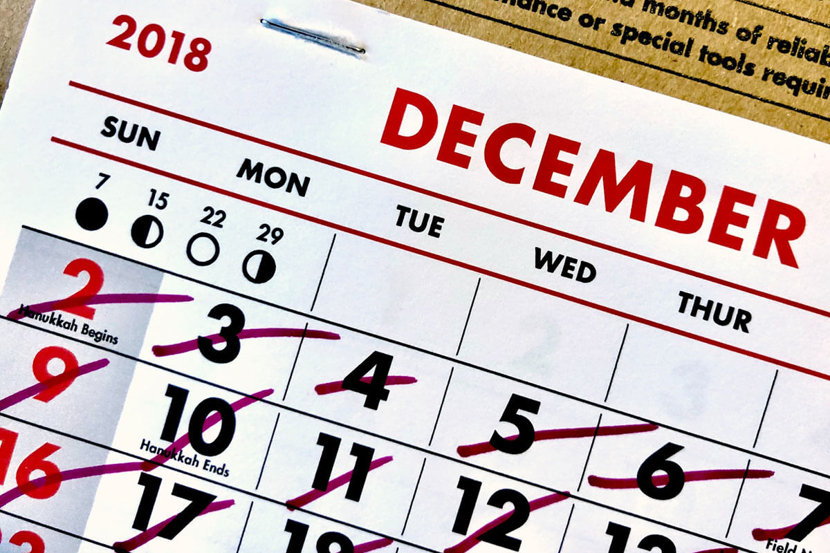 Marquee lead time calendar
