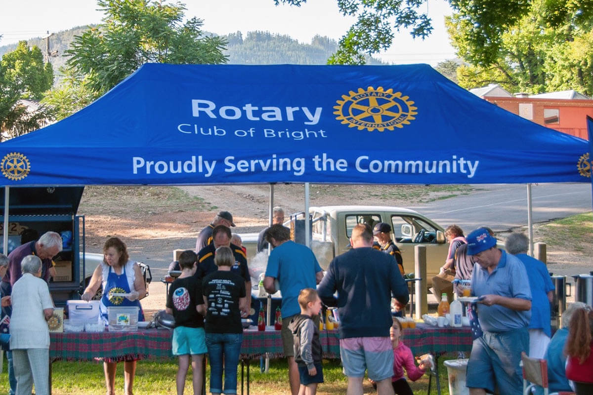 Rotary Club Marquee At BBQ