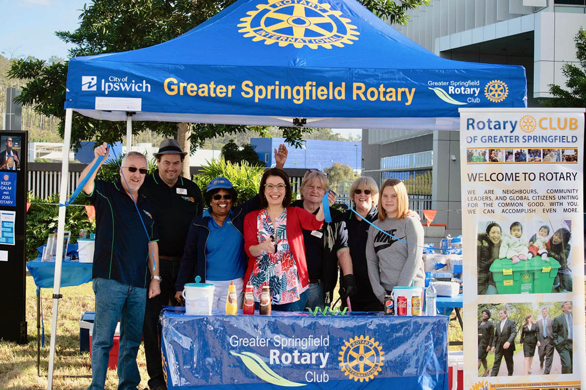 Rotary Club Marquee Being Used For Promotion