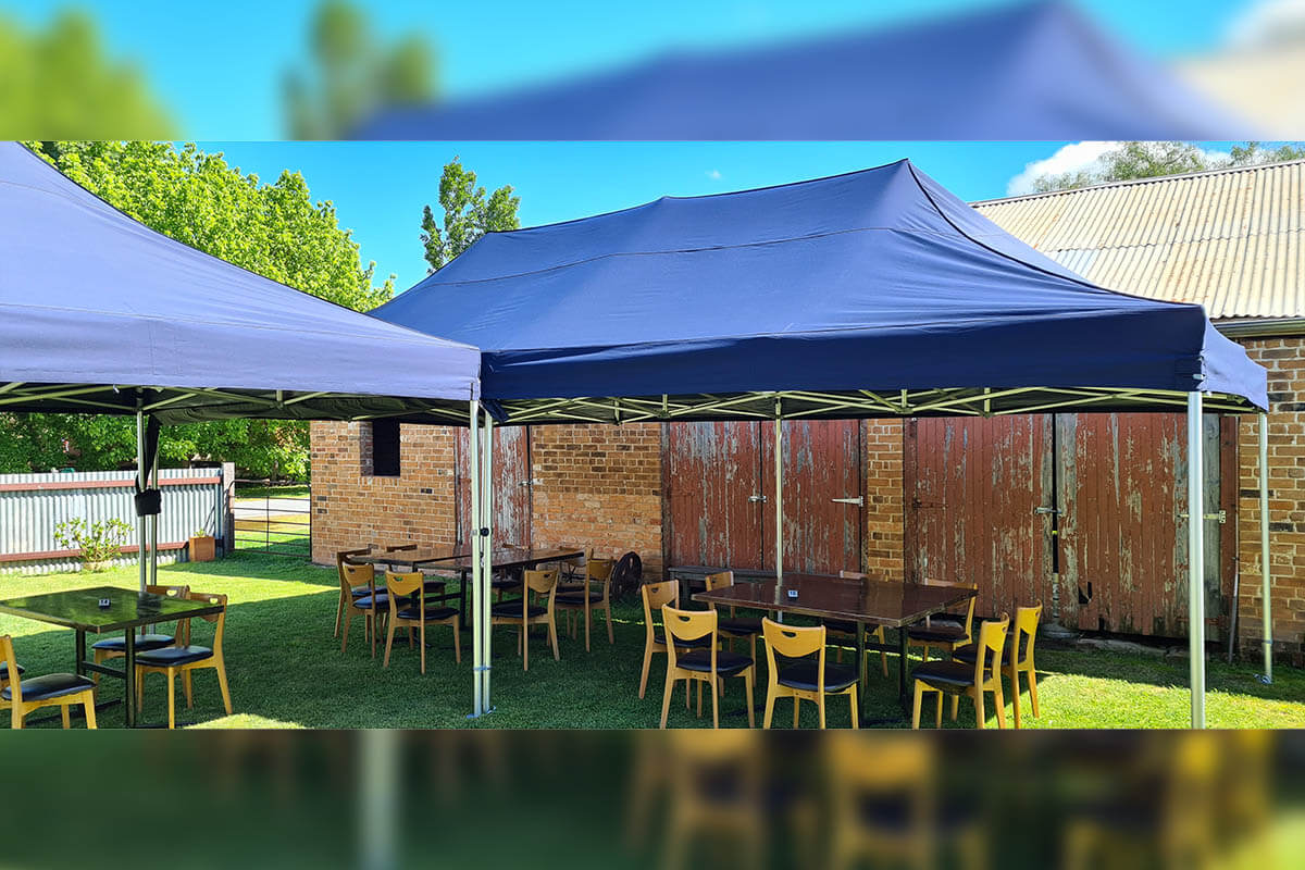 4x8m's Being Used For Outdoor Dining